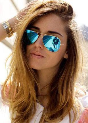 Очки солнцезащитные зеркальные золотистые бренд-asos