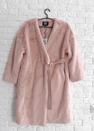 Демисезонное меховое пальто vero moda,  размер s