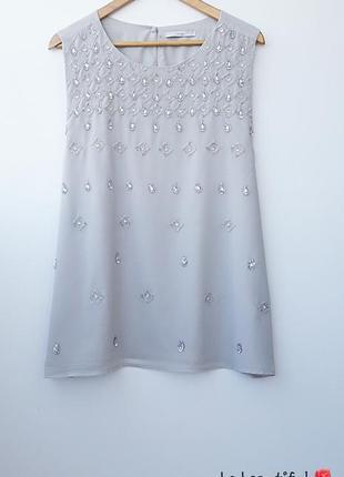 Нарядная серая блузка блуза большой размер 22 5xl нарядна сіра...