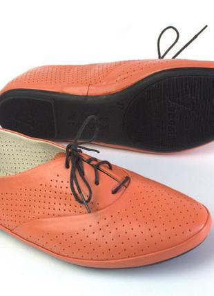 Балетки женская обувь больших размеров летние lacose peach per...