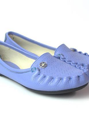 Мокасины женская обувь больших размеров фиолетовые кожаные ros...
