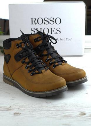 Обувь больших размеров мужская рыжие зимние ботинки rosso avan...