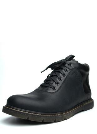 Ботинки зимние черные мужские кожаные на меху rosso avangard r...