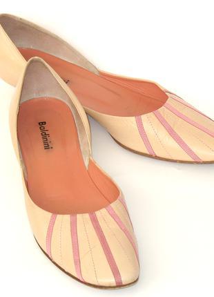 Baldinini Италия балетки 38 кожаные туфли летние туфельки кожа