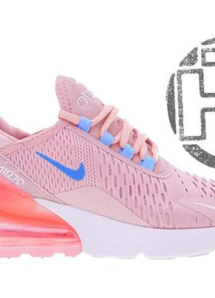 Женские кроссовки nike air max 270 flyknit pink/white ah8050-610