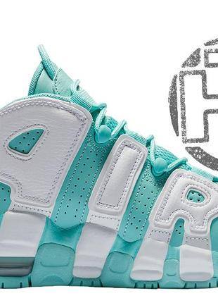 Женские кроссовки nike air more uptempo island green/white 415...
