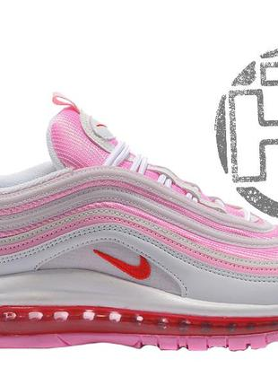 Женские кроссовки nike air max 97 gs pink/white 313054-161