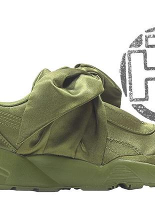 Женские кроссовки puma fenty by rihanna bow sneakers olive gre...
