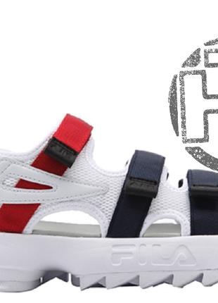 Женские сандали fila disruptor 2 sandal summer shoes white fs1...