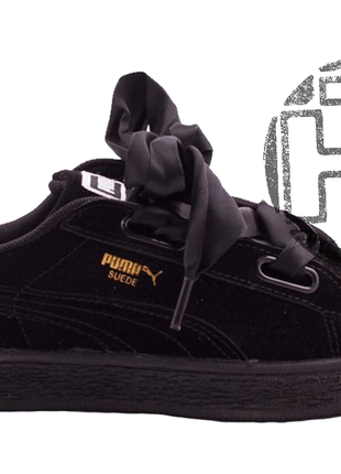 Детские кроссовки puma suede heart preschool sneakers black 36...