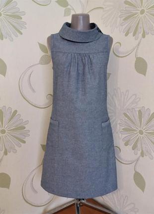 Платье в стиле ретро свободного кроя с воротником