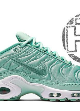 Крутые кроссовки nike air max tn plus satin pack green 830768 331