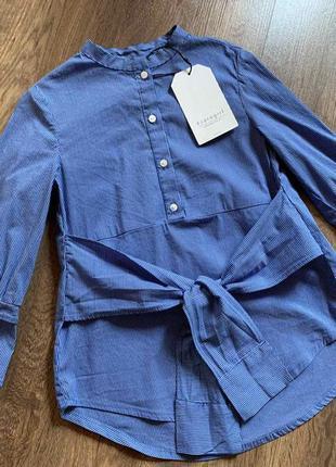 Стильная блуза/рубашка с эффектом на запах