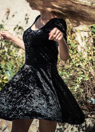 Платье бархатное new look размер 10/12