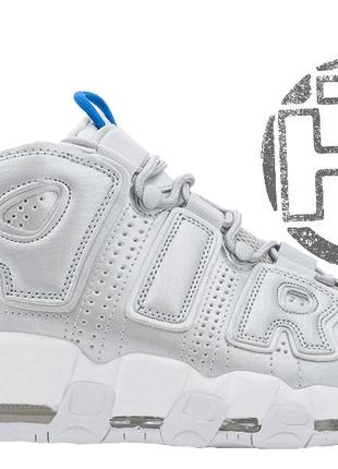 Женские кроссовки nike air more uptempo silver