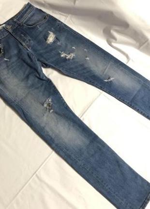 Узкие голубые джинсы zara man с заклёпками !