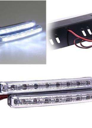 Светодиодные дневные ходовые огни ДХО (пара) габариты LED свет...