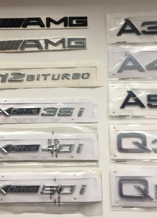 Шильд эмблема наклейка Mercedes AMG BMW Xdrive AUDI Q A 3 4 5 ...