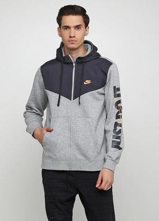 Кофта свитшот худи nike sportswear harbour+ hoodie fz fleece о...