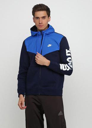 Кофта свитшот худи nike hbr+ fleece full zip hoodie оригинал! ...