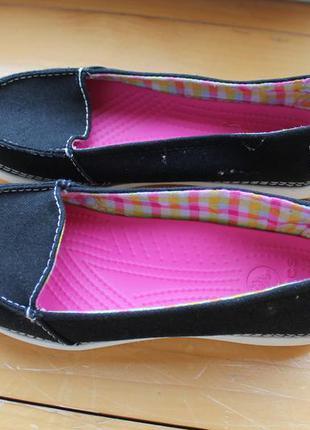 Легкие тапочки балетки стильный дизайн качественный бренд croc...