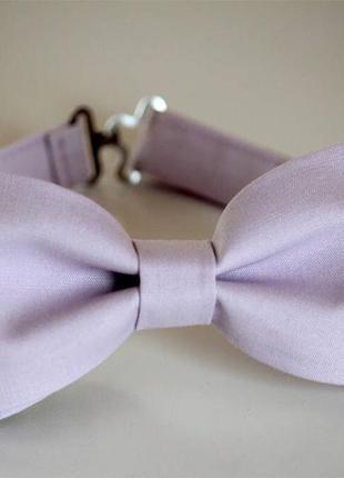 Нежная сиреневая / лавандовая бабочка / мужской галстук