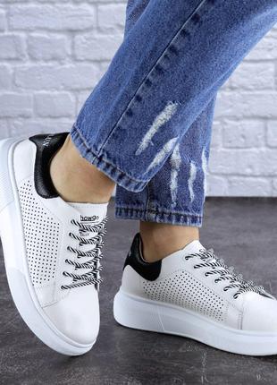 Новые кожаные женские кроссовки, белые, весна, лето, осень, 36-41