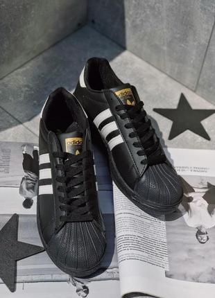 Кроссовки стильные   adidas superstar black