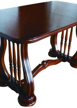 Деревянный раскладной стол Лира, темный орех