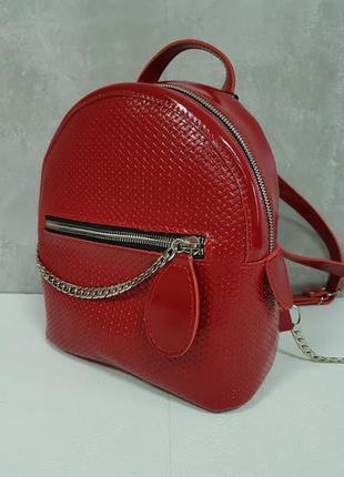 Рюкзак женский кожаный шайн