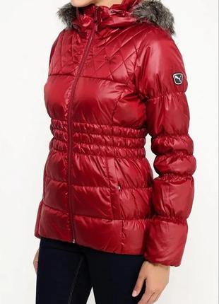 Пуховик натуральный 70/30 пух/перо puma style down jacket куртка