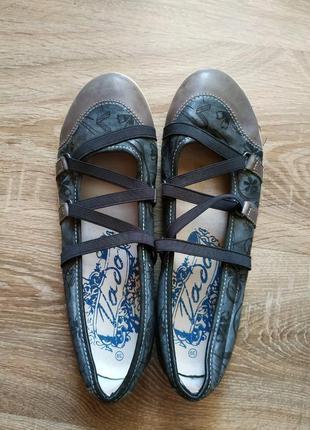 Кожанные мокасины туфли