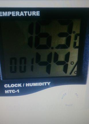 Часы с будильником и градусником HTC 1