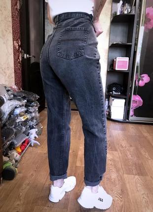 Шикарные мраморные джинсы с высокой посадкой  мом..англия