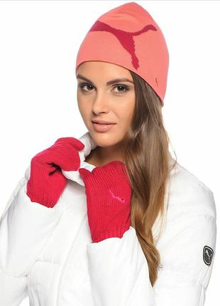 Перчатки unisex puma fundamentals knit gloves