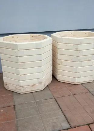 Кашпо дерев'яне кругле | Кашпо деревянное круглое | Круглое кашпо