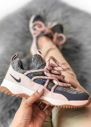 Прекрасные женские кроссовки nike city loop pink серые