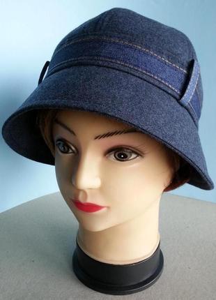 Шляпа женская клош демисезонная джинсовый стиль.