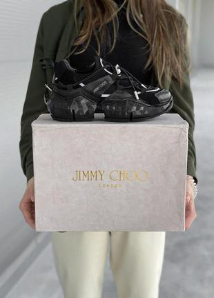 Jimmy choo grey black женские кроссовки весна\лето\осень
