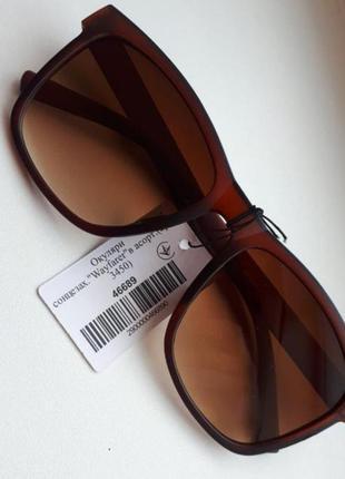 Очки солнцезащитные в матовой оправе