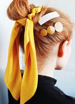Резинка для волос с лентой, резинка с бантом, лента на волосы ...