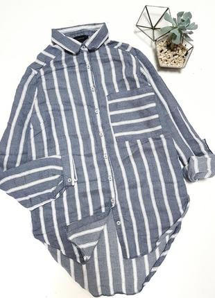 Серо-голубая легкая рубашка