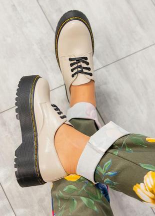 Элитная коллекция шикарные  туфли на платформе итальянская кож...