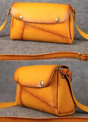 Женская сумка на плечо из натуральной кожи итальянский краст ж...