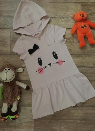 Платье с кошечкой для дома,на 2\4 года