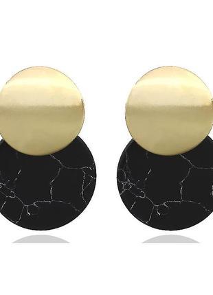 Черные акриловые серьги-капли для женщин,модные, винтажные гео...