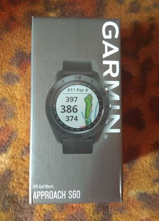 Спортивные часы Garmin Approach S60 Black (010-01702-00)
