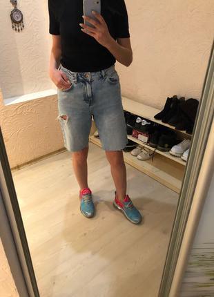 Шорты-бермуды джинсовые