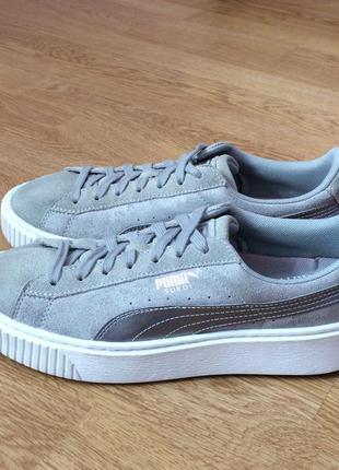 Замшевые кроссовки puma 38 размера в отличном состоянии