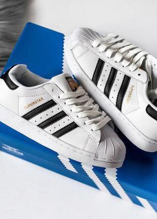 Стильные кроссовки женские adidas superstar белые